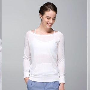 Lululemon Chai Time Sweater II Heathered White